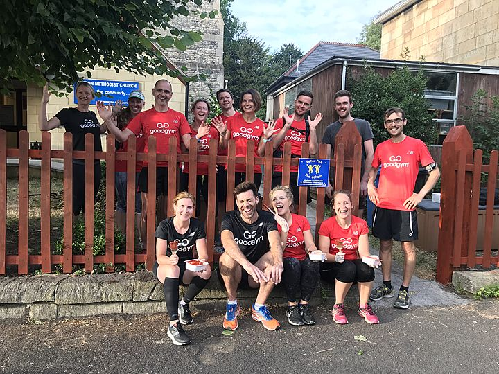 Peter Pan the pre-school picked a picket fence to paint...  So Goodgym painted!