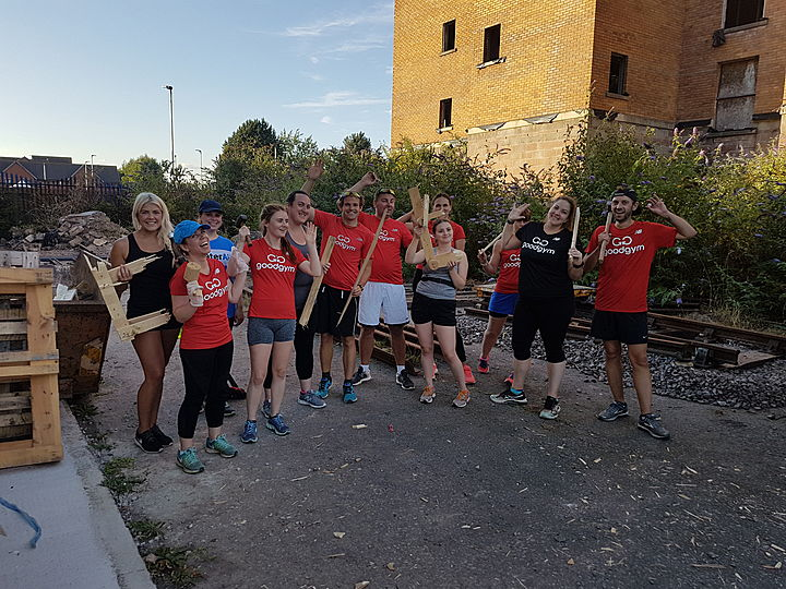 Wood you wheelie believe what palatable tasks GoodGym Cardiff and the Vale completed tonight?