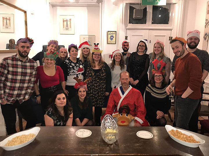 It was a cracker !! What do you call it when Snowmen gather at the GGB Christmas party?.... A snowball!
