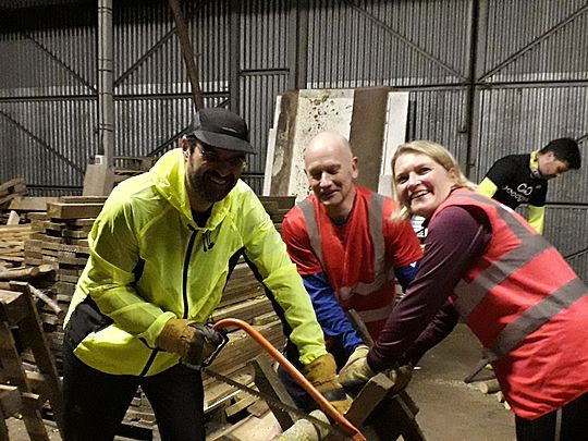 We Axe-lly Saw Sweeping - Like a Log!