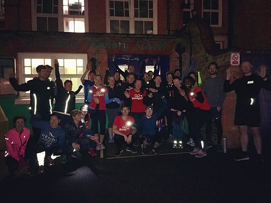 One golden school...if you give GoodGym'ers an inch they'll paint a mile!