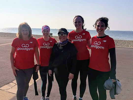 Giving good pace at Southsea Parkrun - shell yeah!
