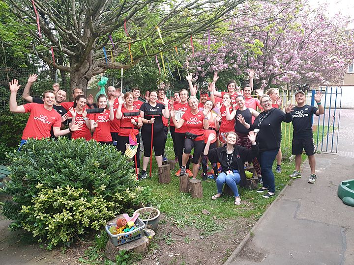Doing our best at school... A* grade ... we are never too tyre-d for a GoodGym run!