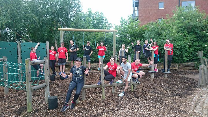 A Do-you-think-he-saw-us? It's paleontological that GoodGym was there, I'd Viennetta on it!