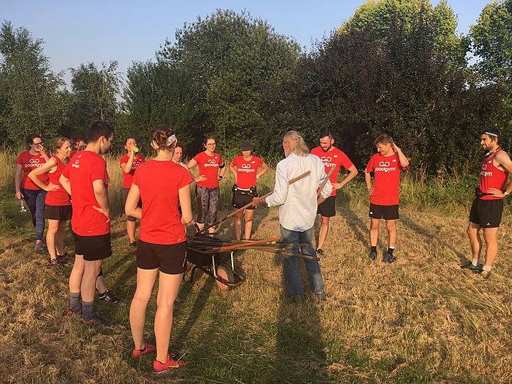 Goodgym Barnet get 'crabby' in the heat!