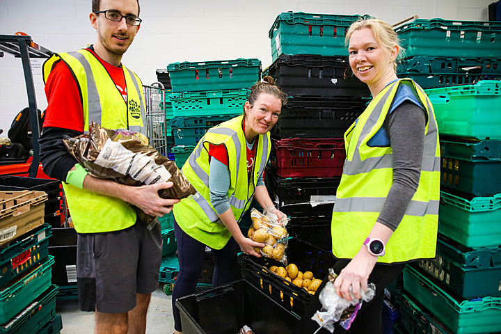Sort surplus food donations - Our monthly fight against food waste with City Harvest