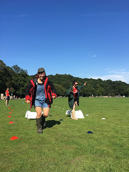 A wellie good time! At the veg based eco friendly Sports Day