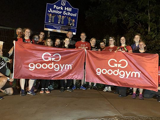 Flagulous GoodGym'in all over Croydon