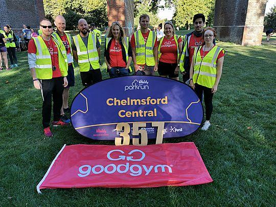 Volunteering at Chelmsford parkrun #GGSuperSaturday