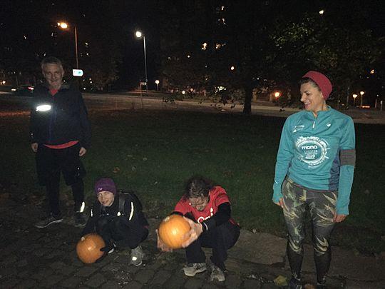Pumpkin pass and ghoulish trash