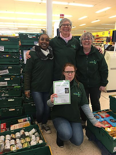 Lewisham Foodbank Collection At Tesco Elmers End