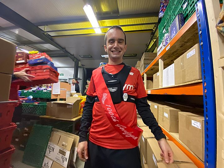 On the 100th run of Robert's, GoodGym gave to thee, All food distributed fairly