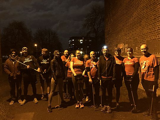 On the 12th day of Christmas my true love gave to me, 12 Goodgymmers running