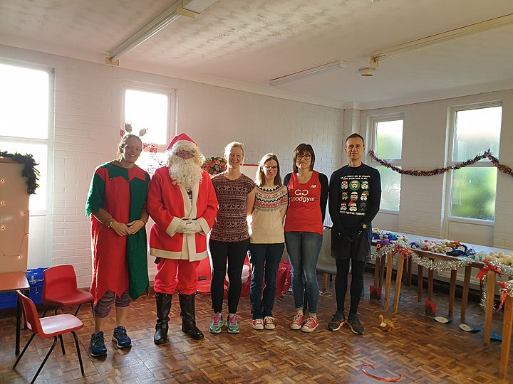 Five GoodGym Ruuners, Four Santa's Grottos, Three Mince pies, Two High vis runners and a room full of presents