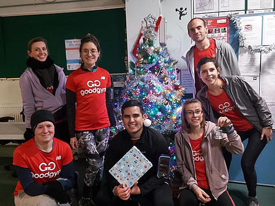 GoodGym elves amongst the shelves