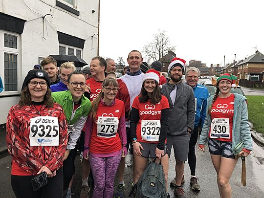 Running for fun... in the rain... on Boxing Day... oh what a pain!