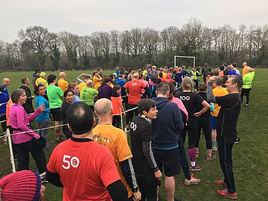 Double the run... double the fun! (Stratford-Upon-Avon & Leamington Spa New Years Day Parkrun double)