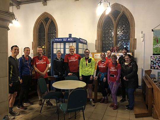 Tryin' our TARDIS at St Mary's Church