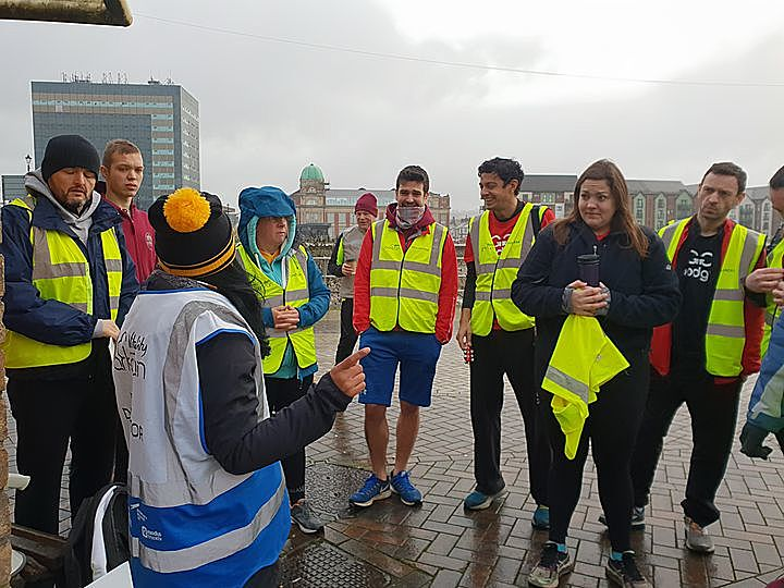 Icy reception at Tremorfa Parkrun