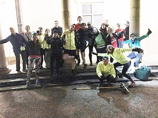 'Brave Goodgymers run to clear up after Storm Ciara'. Sounds cheesy? Well there was de-Brie everywhere!!