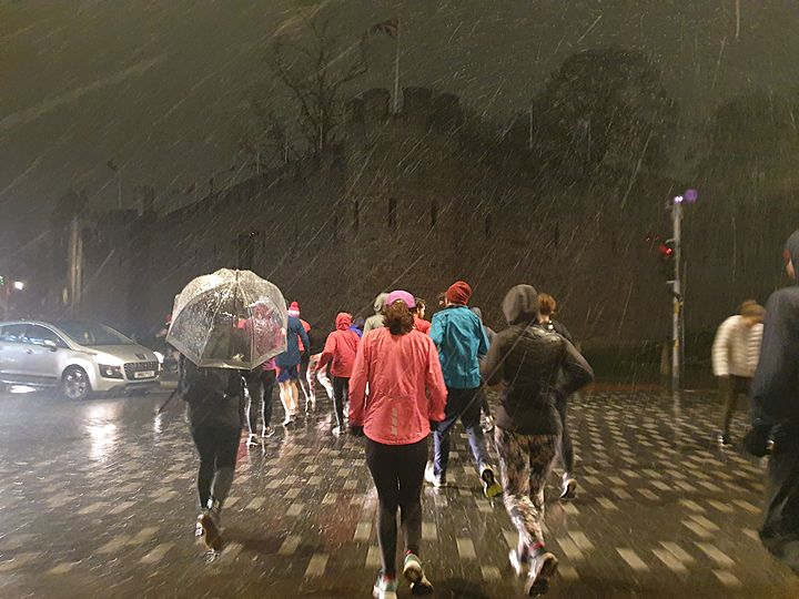 Weather or not, here we come, you can't hide!... All hail GoodGym Cardiff!
