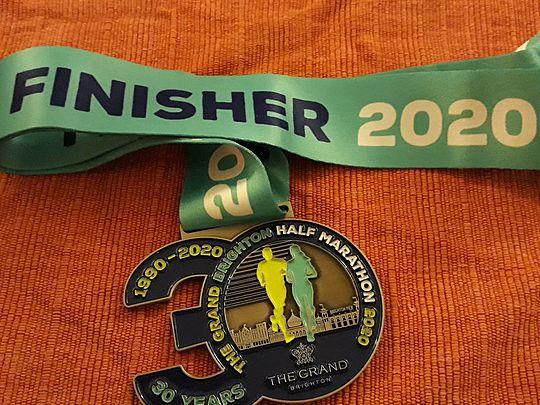 Happy 30th Birthday to a very Wet and Windy Brighton Half Marathon!