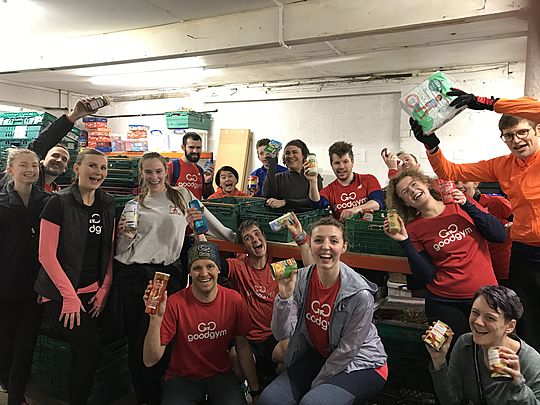 We could have stayed in eating pancakes, but GoodGym is much batter