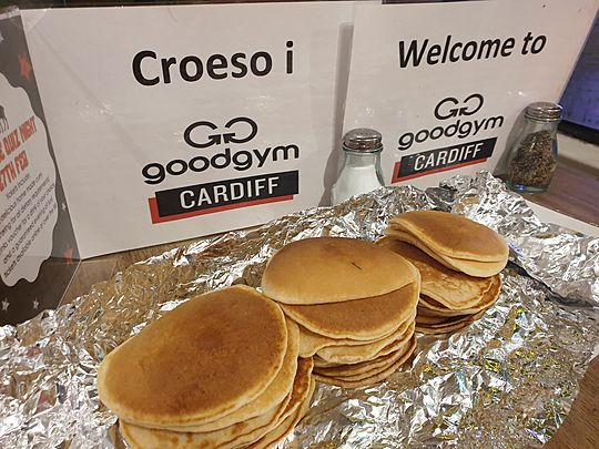 The weeds crepe't up on us, but we didn't flip due to the mindfulness and the pancake-fulness!