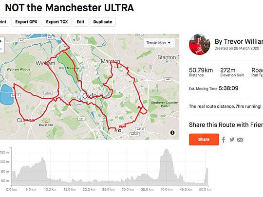 Not the Manchester marathon / landmarks half or parkrun run