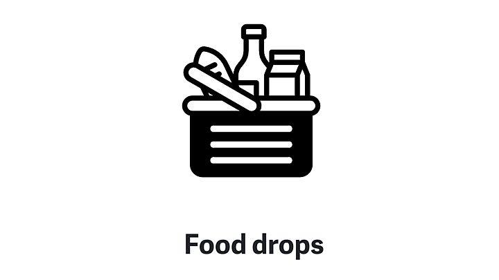 Food drop for elderly neighbour