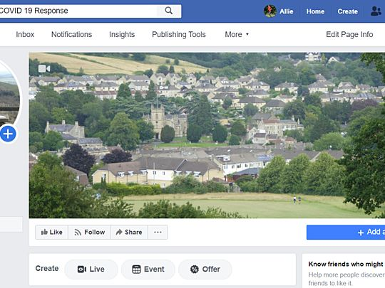 Creating a Facebook Page for Weston Bath COVID Response