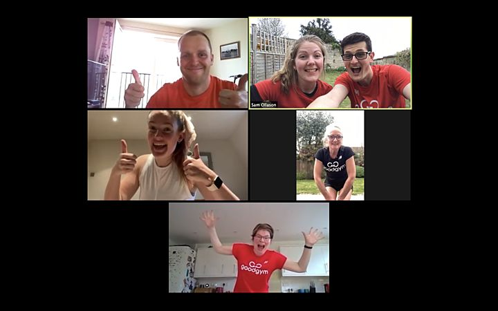 GoodGym Bath Virtual fitness - the one with the improvised weights!