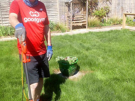 I came, I mowed, I kicked grass