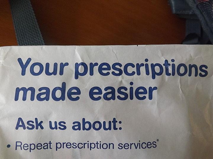 Prescription pick up for Mr E