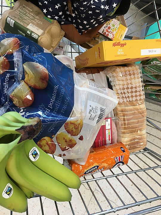 Grocery shopping for Ms D