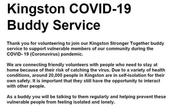 Kingston Council buddy telephone service