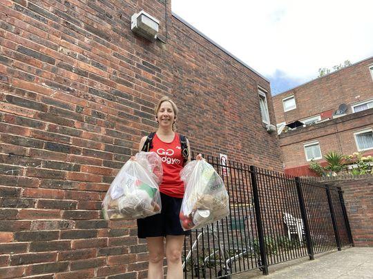 Delivering food parcels for the HLECC