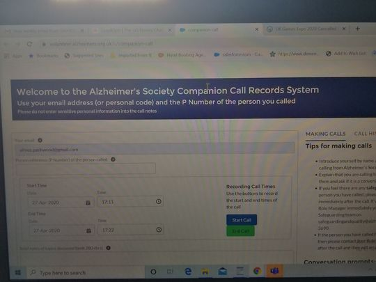 Called carers for alzheimers society