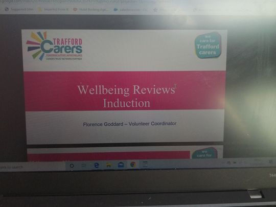 Wellbeing reviews for trafford carers