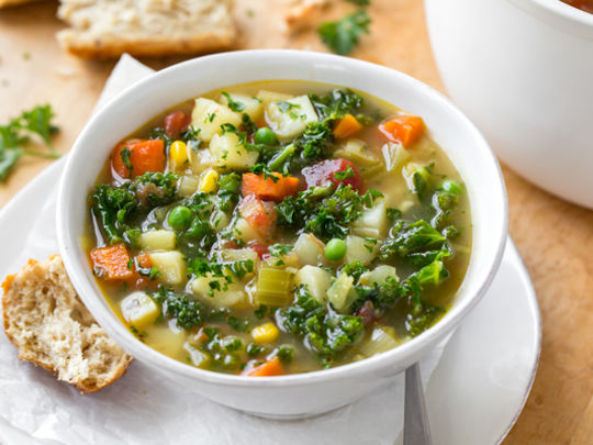Veg Soup - lose the bok choi, chuck in some 'shrooms!