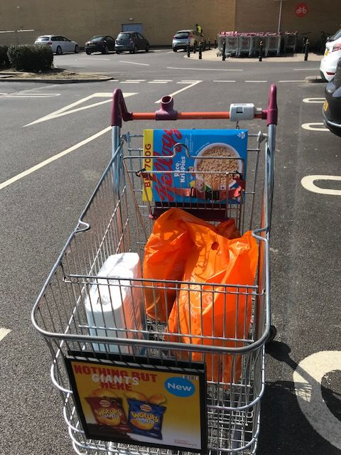 Weekly shop for Mrs J