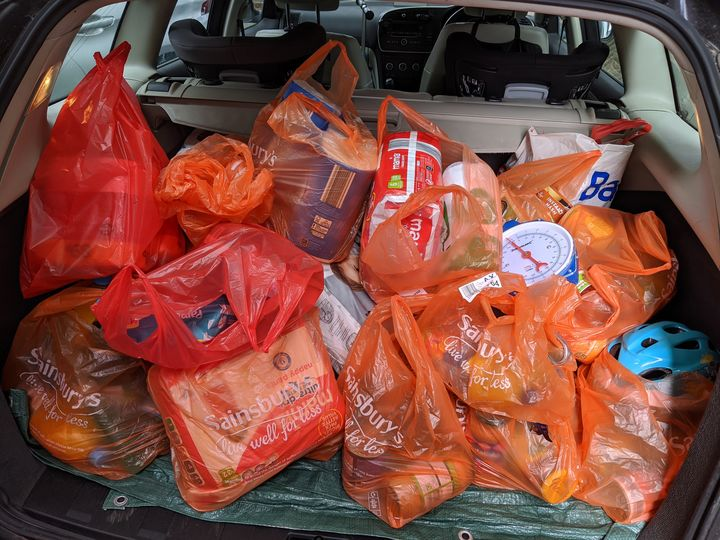 Food Bank donations in the Manor to which we've become accustomed