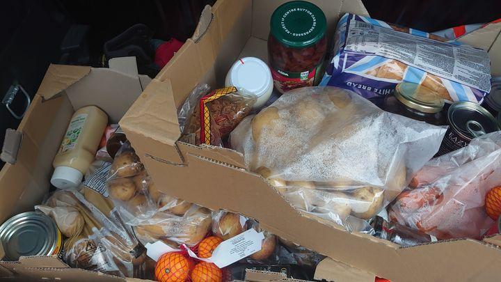FoodBox drop off for Mr J