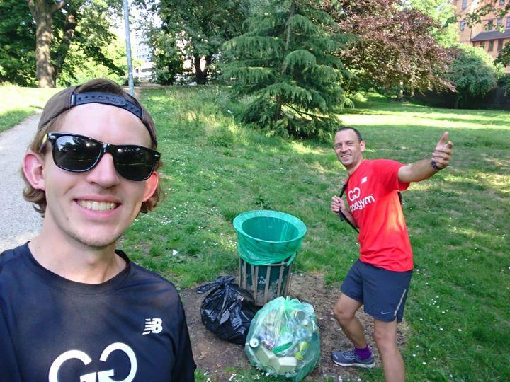 Bute park - A litter pick from my friends