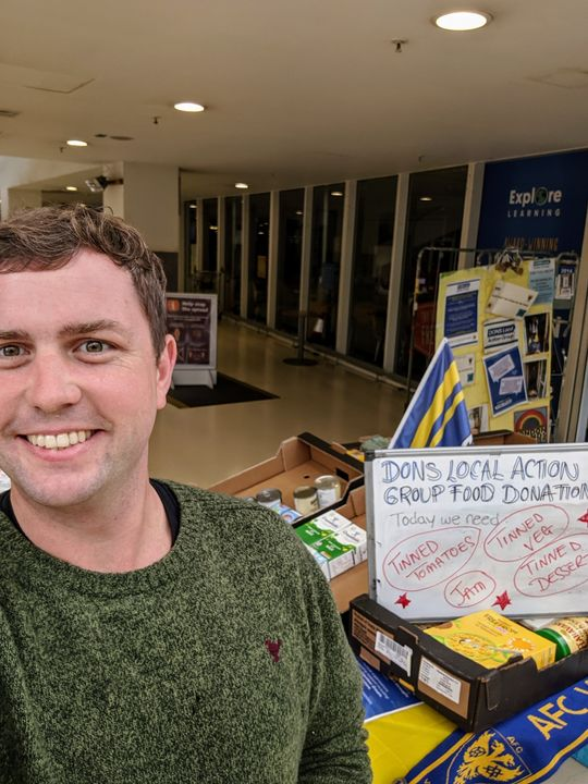 Local food bank collection