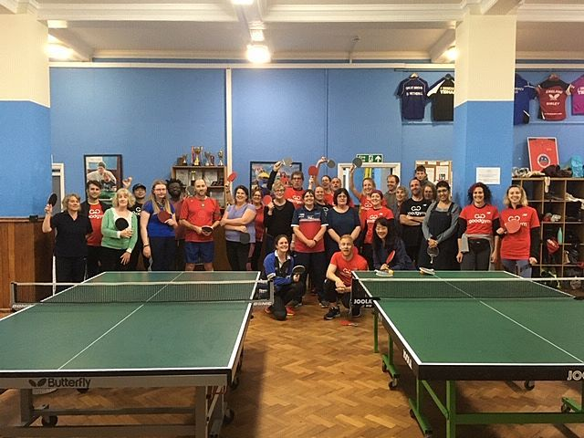 Tidying up the Brighton Table Tennis Club
