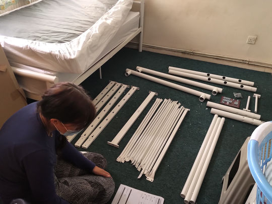 It takes two (to assemble a bed)