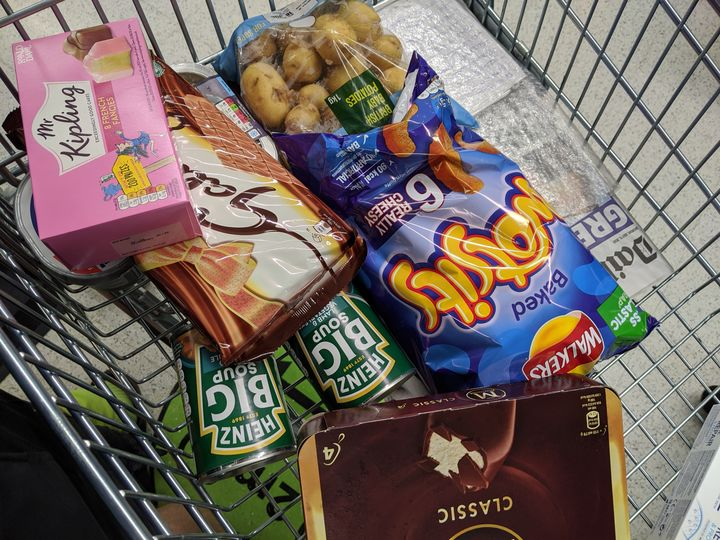 Food shopping for Mr P