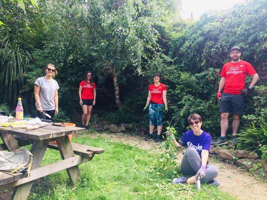 Working on Sunshine, whoaoo @ Alexandra Road Community Garden whoaooo with GG friends again, yeh!