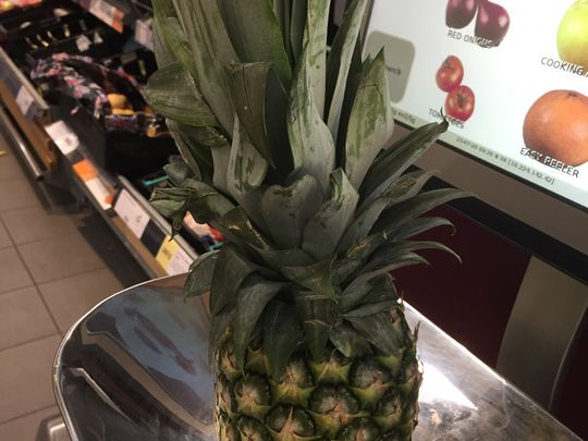 The pineapple crowns the list